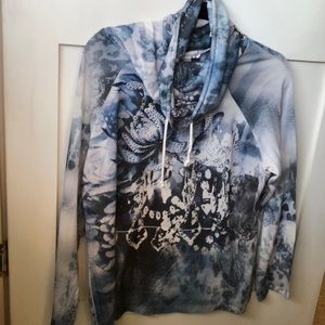 Christopher & banks blue pull over top XL